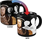 The Unemployed Philosophers Guild Henry VIII Disappearing Coffee Mug - Add Hot Water and Watch Henry's Wives Disappear - Comes in a Fun Gift Box