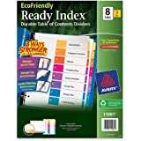 Avery EcoFriendly Ready Index Table of Contents Dividers, 8-Tab, 3 Sets (11081)