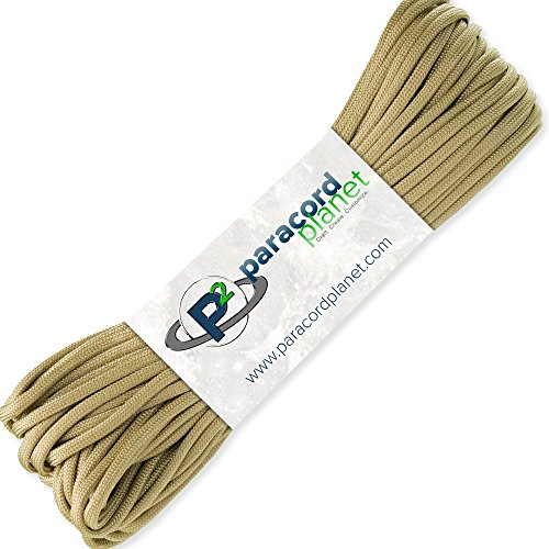 Paracord Planet 100' Hanks Parachute 550 Cord Type III 7 Strand Paracord Top 40 Most Popular Colors (Gold)