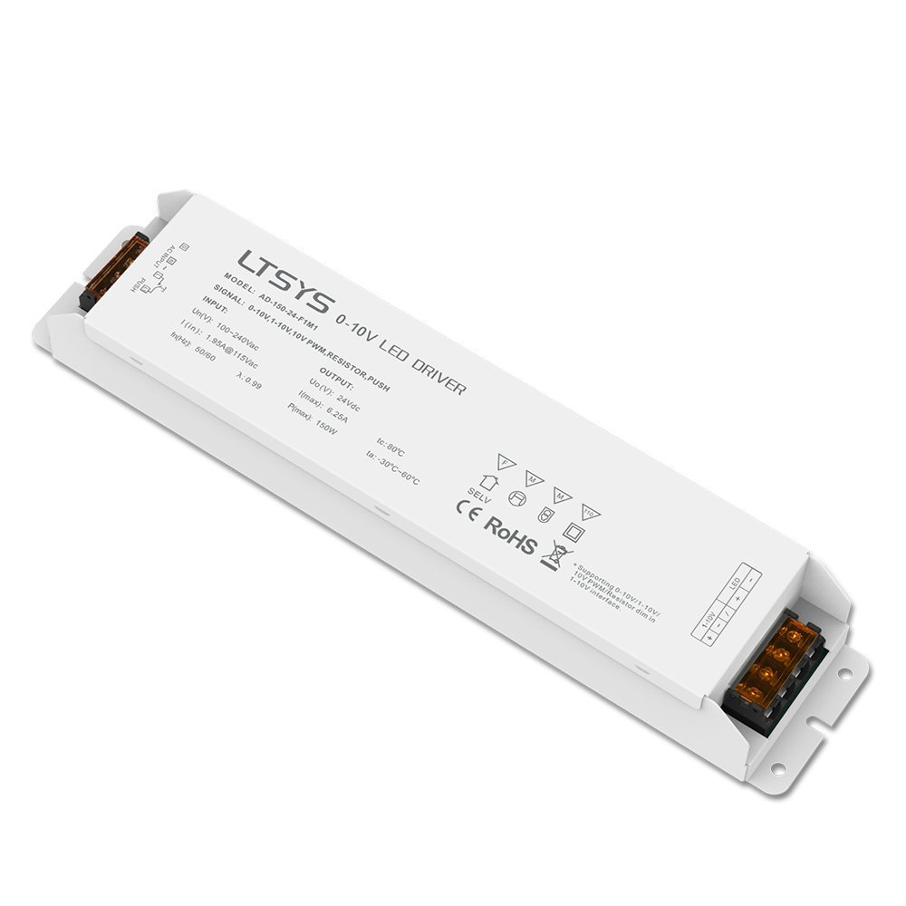0-10V / 1-10V Intelligent Dimmable LED Driver 150W 24VDC Constant Voltage PWM Dimming Driver