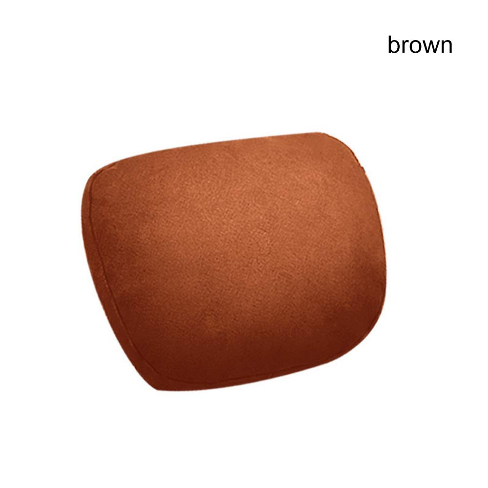 Car Pillow with Memory foam, Plush Headrest Support Cushion for Pain Relief Car Neck Pillow for Driving, Brown