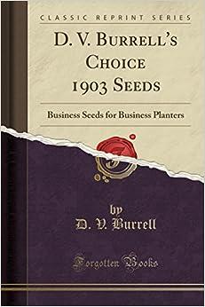 Utorrent Descargar Español D. V. Burrell's Choice 1903 Seeds: Business Seeds For Business Planters Kindle Lee Epub