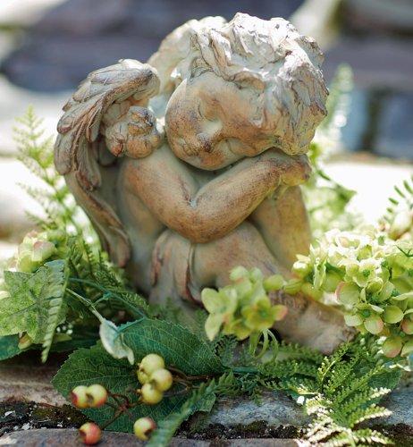 Polystone Cherub (Sculpture - Sleeping Cherub Sculpture - Cherub Garden Statue - Cherub Figurine)