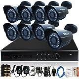 iSmart 16 Channel D1 DVR Kit including 8 700TVL Heavy Duty Bullet Security Camera System D6016DH+C1030DP7