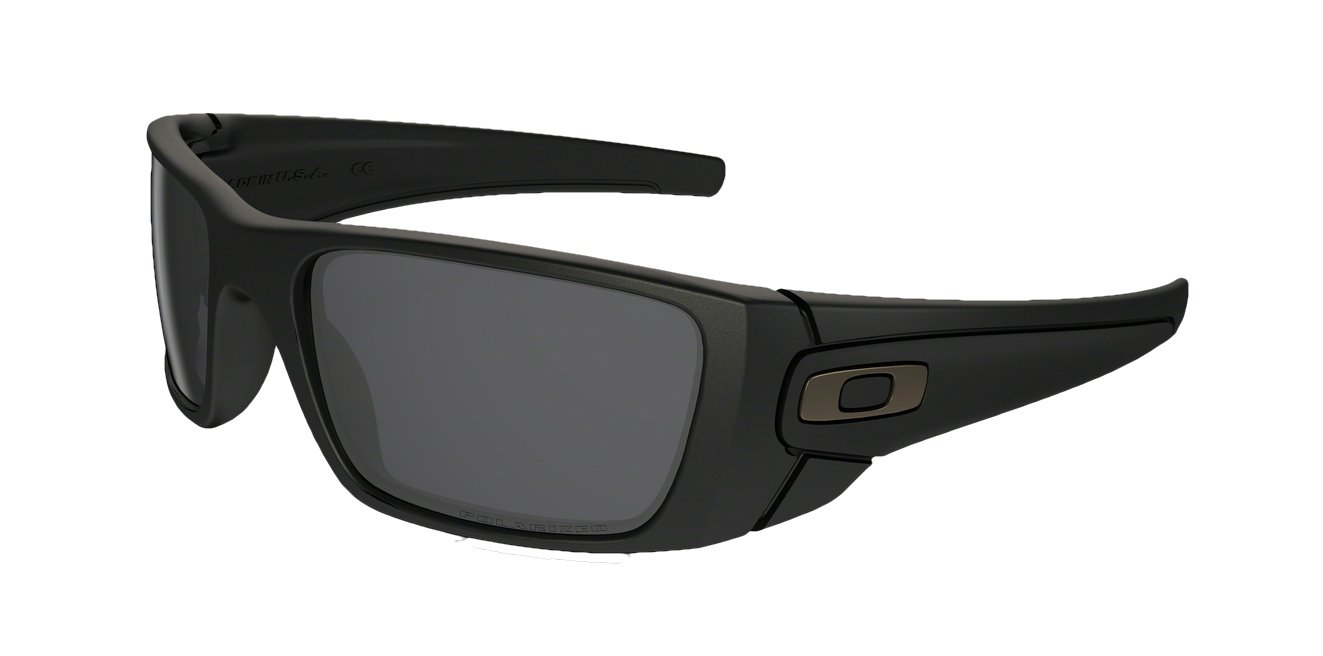 Oakley Fuelcell Sunglasses (Matte Black Frame Polarized Solid Black Lens) by Oakley