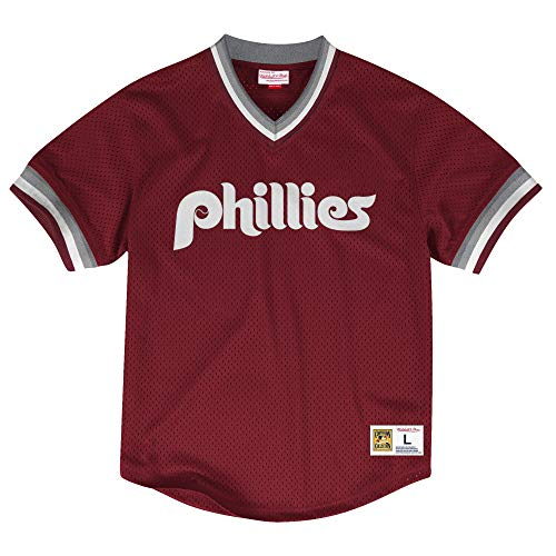 Mitchell & Ness Philadelphia Phillies MLB Men's Dinger Mesh Jersey Shirt - Red
