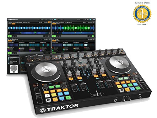 Native Instruments Traktor Kontrol S4 Mk2 DJ System with 1 Year Free Extended Warranty
