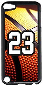 Basketball Sports Fan Player Number 23 Black Plastic Decorative iPod iTouch 5th Generation Case