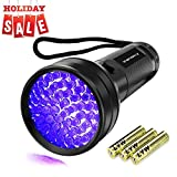 Tools & Hardware : UV Flashlight Black Light, Vansky 51 LED Ultraviolet Blacklight Pet Urine Detector For Dog/Cat Urine,Dry Stains,Bed Bug, Matching with Pet Odor Eliminator (3AA Batteries Included)