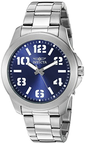 Invicta Men's 'Specialty' Quartz Stainless Steel Casual Watch, Color:Silver-Toned (Model: 21439)