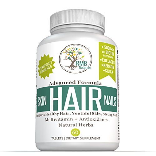 Hair-Skin-Nails-Vitamins-Premium-Biotin-Collagen-Keratin-Natural-Herbs-Complete-Nutrition-to-Look-your-Best-Hair-Growth-Supplement-60-Tablets