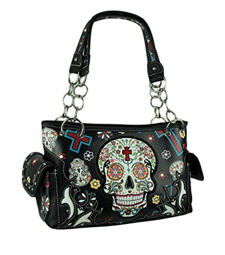 Sugar Skull Purse with Concealed Carry Pocket Day
