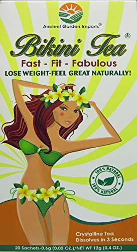 Bikini Tea: Weight Loss, Diet, Slimming, Reduce Bloating, Appetite Suppressing,100% Organic, 20 Sachets