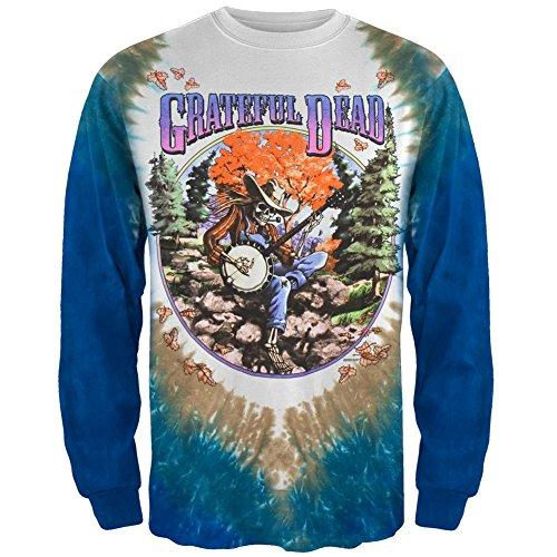 Grateful Dead - Mens Banjo Tie Dye Long Sleeve 2x-large ()