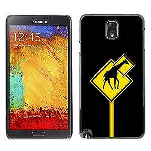Be Good Phone Accessory // Dura Cáscara cubierta Protectora Caso Carcasa Funda de Protección para Samsung Note 3 N9000 N9002 N9005 // Funny Giraffe Traffic Sign