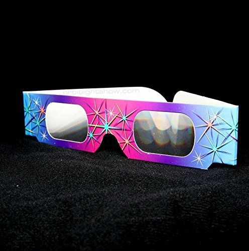 Rainbow Spectrum Diffraction Prism Glasses - 20 Pair