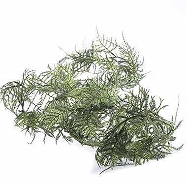 Wispy Mini Leaf Plumosa Fern Garland for Embellishing Displays, Mantles, and Displays