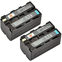 DSTE® 2x NP-F750 Replacement Li-ion Battery for Sony CCD-TRV215 CCD-TR917 CCD-TR315 HDR-FX1000 HDR-FX7 HVR-V1U HVR-Z7U HVR-Z5U Camera as NP-F730 NP-F770
