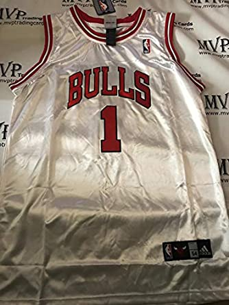 pretty nice 6201c dc8d6 Amazon.com: Derrick Rose White Chicago Bulls Men Size XXX ...