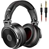 OneOdio Adapter-Free Over Ear Headphones for Studio Monitoring and Mixing  Sound Isolation  90° Rotatable Housing with Top Protein Leather Earcups  50mm Driver Unit  Wired Headsets with Mic (Pro-50)