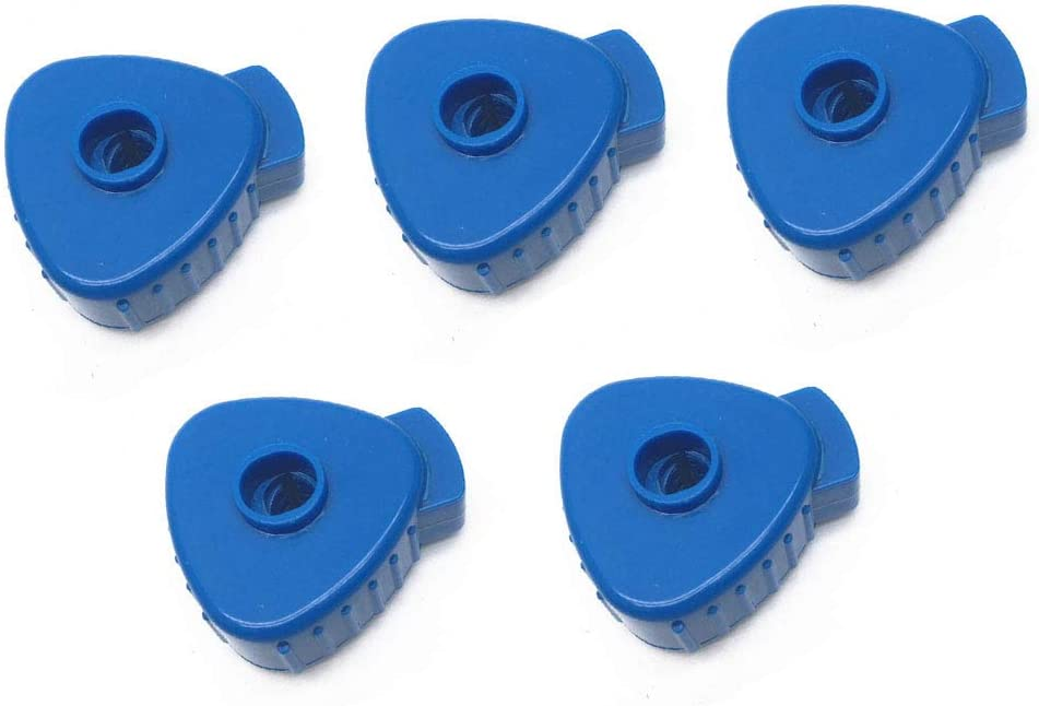 Liyafy Pack of 5 Plastic Quick-set Cymbal Nut for Percussion Drum Kit Blue