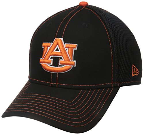 Ncaa New Era - New Era NCAA Auburn Tigers College Crux Line Neo 39THIRTY Stretch Fit Cap, Medium/Large, Black
