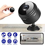 Mini Spy Camera Wireless Hidden Home WiFi Security Cameras with App 1080P Night Vision Motion Activated Indoor Outdoor Small Nanny Cam for Cars Apartment Live Streaming with iPhone/Android Phone iPad