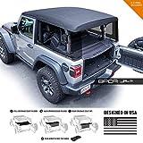 GPCA Cargo Cover LITE Jeep Wrangler JL 2DR Sport Sahara Freedom Rubicon Unlimited 2018-2020 Model (JL 2DR Hardtop)