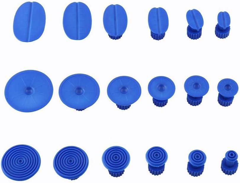 Qiilu 18pcs Paintless Dent Repair Werkzeuge Dent Puller Kleber Tabs Removal Kits