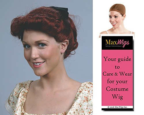 Hollywood Star Wig (Bundle 3 items: Lucy Ball I Love Lucille Luci Auburn Housewife TV Star Hollywood Icon Enigma Wigs, Wig Cap, MaxWigs Costume Wig Care Guide)
