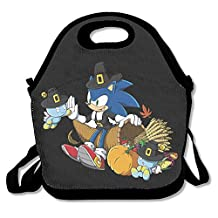Happy Thanksgiving Sonic The Hedgehog Lunch Box Bag For Student Kids Adult Men Women Girl Boy,lunch Tote Lunch Holder With Adjustable Strap ,double Shoulder