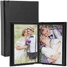 "Leather Self-Stick Photo Album (Black, 4"" x 6"" (20 photos))"