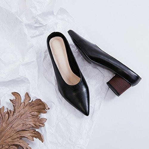 Xue Et Marche Pointues Pour De Évidées Carrière Pu D'été Tongs Bureau Robe Femmes Respirant Sandales Chaussures Une pantoufles Soirée Confort wPX0k8nO