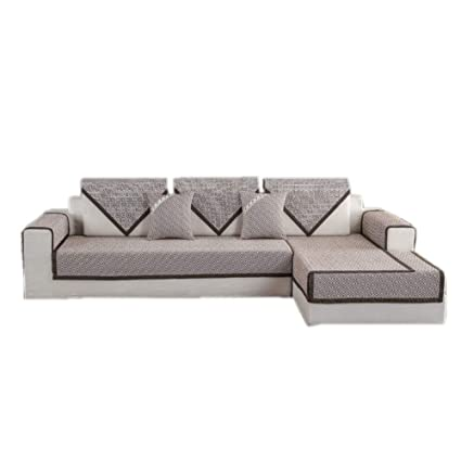 Amazon.com: Cotton and Linen Quilted Sofa Furniture ...