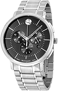 Movado Ultra-Thin Chronograph Stainless Steel Men's Watch