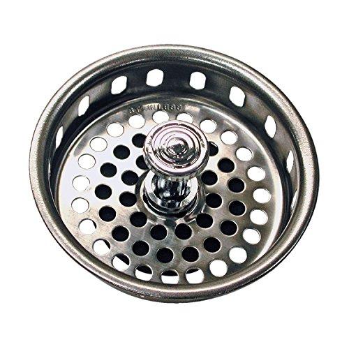 - Danco 51275 Universal Basket Strainer, Chrome Plated, 3-1/4