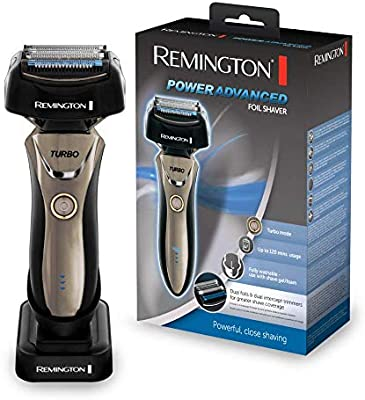 Remington Power Advanced F9200 - Afeitadora de Láminas, Cuchillas de Titanio, Inalámbrico, Lavable, Litio, Negro: Amazon.es: Salud y cuidado personal