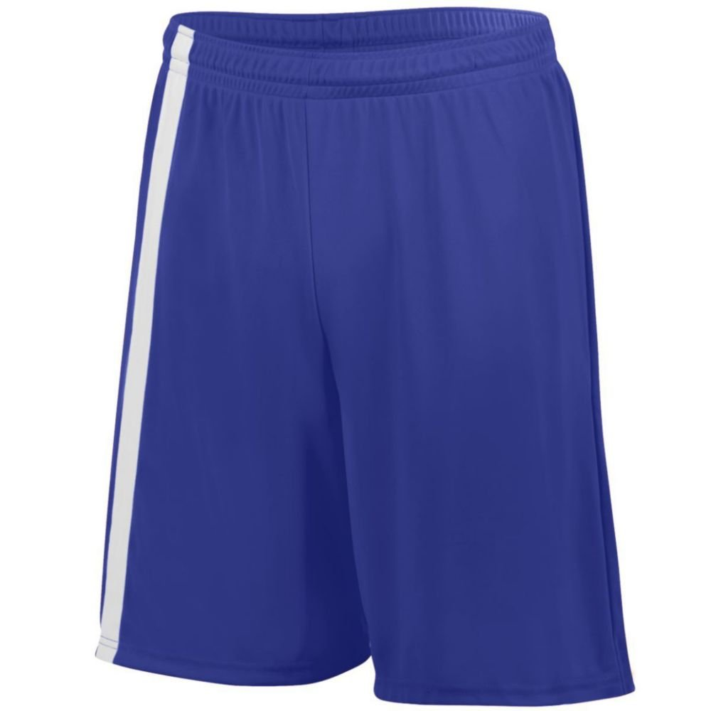 Augusta Activewear Attacking Third Short - Youth, Purple/White, XX Small by Augusta Activewear