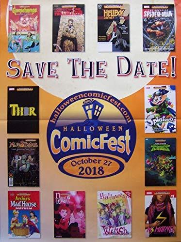 Halloween Comicfest 2018 Folded Comic Shop Retailer Promo Poster (18 X 24