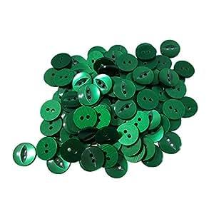 10x botella verde ojo de pez botones de tamaño 22