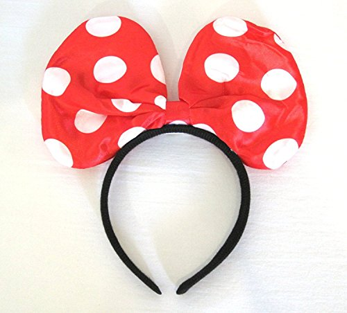 Light Up LED Flashing Jumbo Polka Dot Headband Costume (Red)