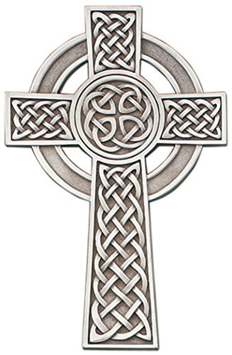 Pewter Knotted Celtic Wall Cross with Antique Finish, 5 Inch