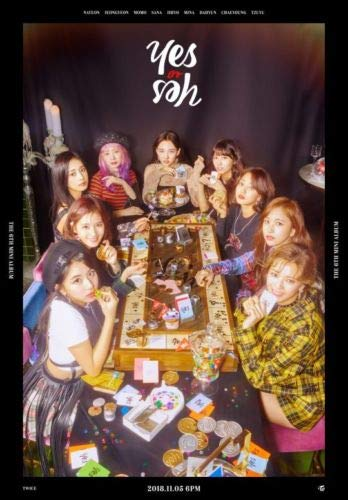 TWICE - [YES Or Yes] 6th Mini C VER CD+Poster+PhotoBook+Card+PreOrder+Tracking+Extra PhotoCard Set