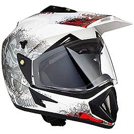 Vega Off Road D/V Gangster White Red Helmet-L
