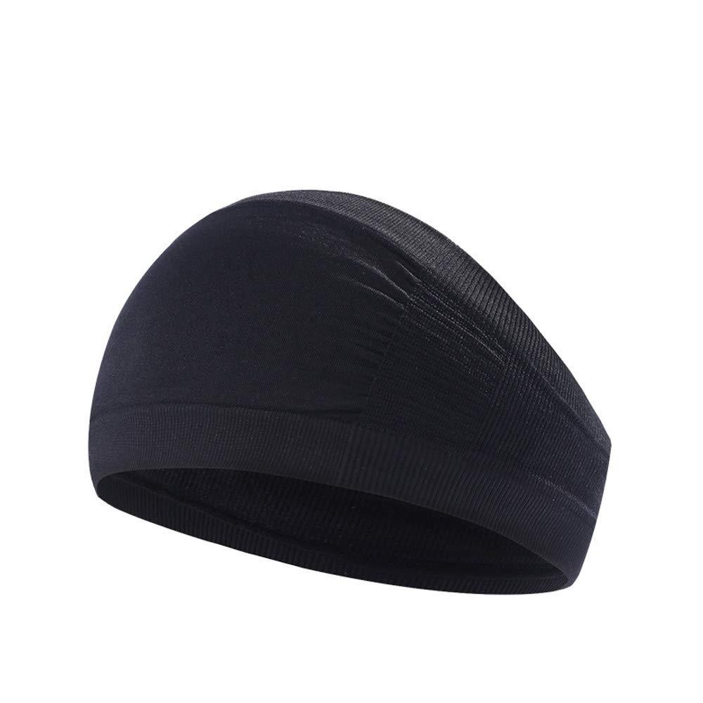 Sinwo Women Wide Fitness Sports Yoga Headband Stretch Hairband Elastic Hair Band Turban (A)