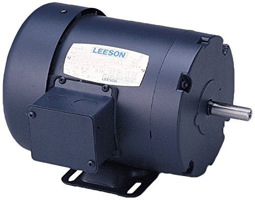 Leeson 120923.00 General Purpose Motor, 3 Phase, 145T Frame, Rigid Mounting, 2HP, 1800 RPM, 208-230/460V Voltage, 60/50Hz Fequency by Leeson (Image #1)