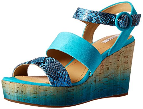 Geox D Jaleah a, Women's Sandals Denim/Emerald