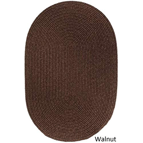 Rhody Rug Woolux Wool Oval Braided Rug (3' x 5') Walnut