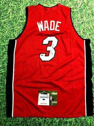 online store 0bce9 5b985 DWYANE WADE AUTOGRAPHED MIAMI HEAT R JERSEY AASH at Amazon's ...