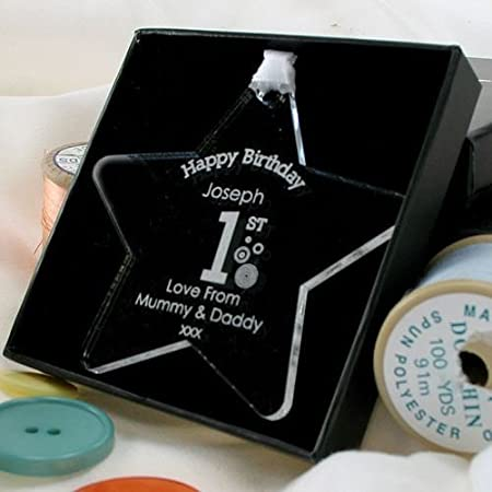 Baby Boy 1st Birthday Gift Star Keepsake Special